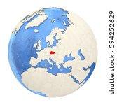 map of czech republic on...   Shutterstock . vector #594252629