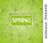 spring background.green... | Shutterstock .eps vector #594256430