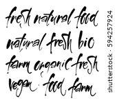 vector illustration  food... | Shutterstock .eps vector #594257924