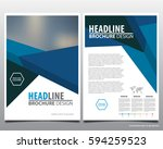 abstract vector modern flyers... | Shutterstock .eps vector #594259523