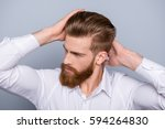 portrait of confident man with... | Shutterstock . vector #594264830
