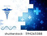 2d illustration health care and ... | Shutterstock . vector #594265388