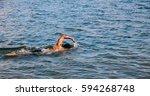 Man Swimming In Lake Ontario