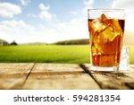 ice tea  | Shutterstock . vector #594281354
