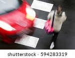 Crosswalk Of Street City With...