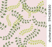 spring seamless pattern with... | Shutterstock .eps vector #594285830
