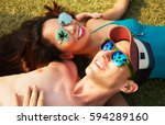 outdoors lifestyle portrait of... | Shutterstock . vector #594289160