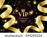 vip invitation members only ... | Shutterstock .eps vector #594293234