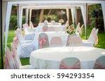 table set for wedding or... | Shutterstock . vector #594293354