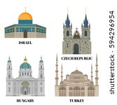 israel  hungary  turkey and...   Shutterstock .eps vector #594296954