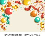 festive celebration concept... | Shutterstock .eps vector #594297413