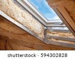 plastic  mansard  or skylight... | Shutterstock . vector #594302828