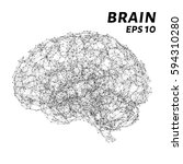 the brain is composed of points ... | Shutterstock .eps vector #594310280