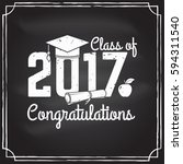 class of 2017 badge on the... | Shutterstock .eps vector #594311540