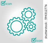 icon of gears. the development...