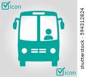 bus icon. schoolbus symbol.... | Shutterstock .eps vector #594312824