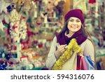 portrait of  caucasian female...   Shutterstock . vector #594316076