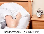 unpleasant morning. don't want... | Shutterstock . vector #594323444