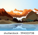 flat style illustration of... | Shutterstock .eps vector #594323738
