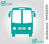 bus icon. schoolbus symbol.... | Shutterstock .eps vector #594326594