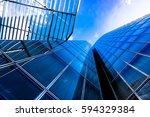 modern glass silhouettes of... | Shutterstock . vector #594329384