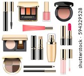 vector makeup icons set 3 | Shutterstock .eps vector #594329528