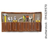vector tool bag | Shutterstock .eps vector #594329570