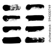 collection of black ink brush... | Shutterstock .eps vector #594330749