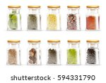 isolated and colored herbs... | Shutterstock .eps vector #594331790