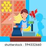 fraud market trade background... | Shutterstock .eps vector #594332660