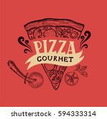 pizza menu graphic element for... | Shutterstock .eps vector #594333314