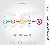 business infographic business... | Shutterstock .eps vector #594337148