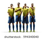 professional soccer players... | Shutterstock . vector #594340040
