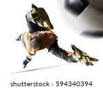 professional soccer goalkeeper... | Shutterstock . vector #594340394
