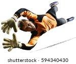 professional soccer goalkeeper... | Shutterstock . vector #594340430