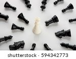 success  leadership  chess... | Shutterstock . vector #594342773