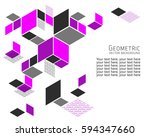 geometric abstract background... | Shutterstock .eps vector #594347660