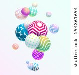 multicolored decorative balls.... | Shutterstock .eps vector #594361694
