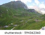 Austria Alps Landscape With...