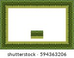 border or frame of abstract... | Shutterstock . vector #594363206