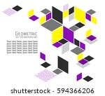 geometric abstract background... | Shutterstock .eps vector #594366206