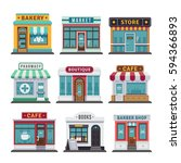 retail business urban shop ... | Shutterstock .eps vector #594366893