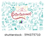 entertainment or performing... | Shutterstock .eps vector #594375710