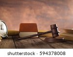 judge's gavel over brown