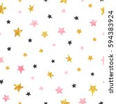 Stars Pattern. Vector Seamless...