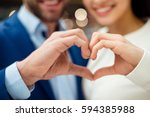 happy lovely young family... | Shutterstock . vector #594385988