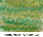 abstract green gold yellow ikat ... | Shutterstock . vector #594386660