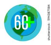 save planet 60  | Shutterstock .eps vector #594387584