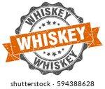 whiskey. stamp. sticker. seal.... | Shutterstock .eps vector #594388628