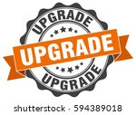 upgrade. stamp. sticker. seal.... | Shutterstock .eps vector #594389018